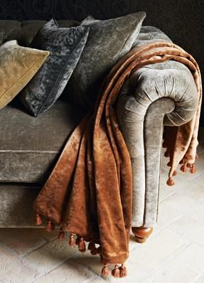 Products | Fabrics | Curzon Velvets | Zoffany Available at James Brindley, www.jamesbrindley.com.