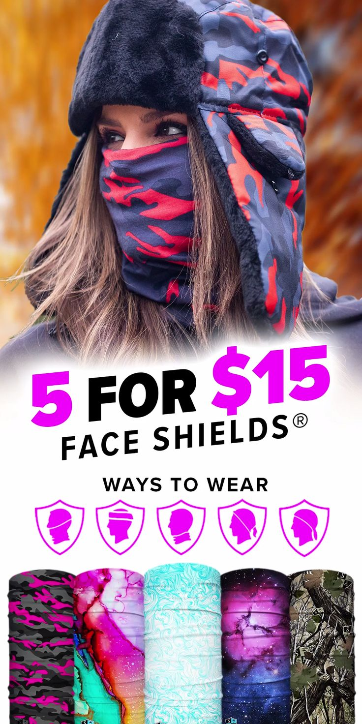 5 Face Shields Only $15