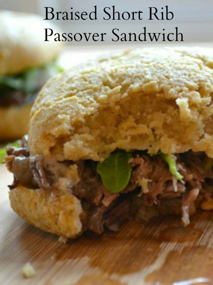 What to do with leftover brisket from your Passover Seder?  Braised Short Rib Passover Sandwich | Joy of Kosher with Jamie Geller
