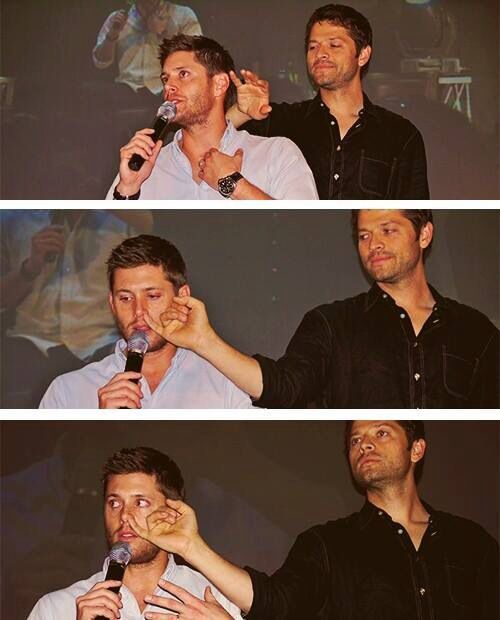 You Can Pick Your Friends, And You Can Pick Your Nose, But You Canu0027t Pick  Your Friendu0027s Nose. :D (Jensen Ackles And Misha Collins)