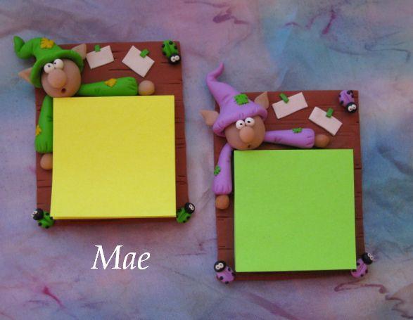 Imanes con post-it para la nevera /Fridge magnets with post-it | Flickr: Intercambio de fotos flores en lugar de