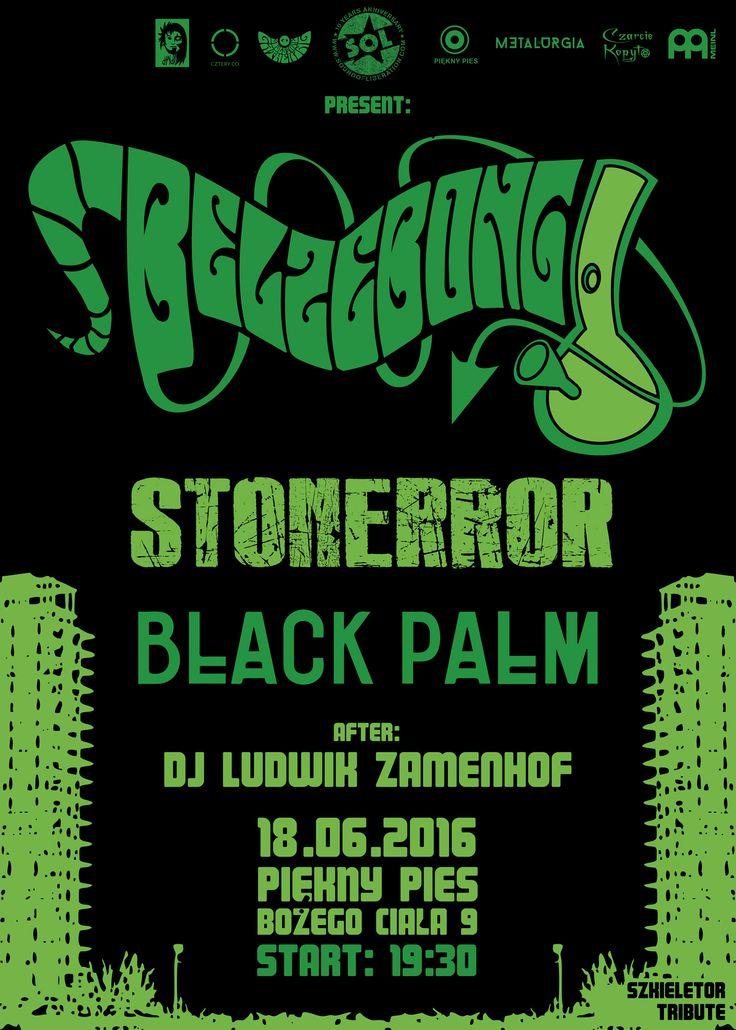 """18 czerwca 2016 w Pięknym Psie odbędzie się koncert """"Szkieletor Tribute"""". Legendarny symbol Krakowa pożegnamy z hukiem w towarzystwie znakomitych kapel:   BELZEBONG https://www.facebook.com/belzebong420/ http://belzebong.bandcamp.com/  STONERROR https://www.facebook.com/Stonerror/ http://www.stonerror.com/  BLACK PALM https://www.facebook.com/blackpalmband/ https://blackpalm1.bandcamp.com/  Po tej zmasowanej dawce muzycznego zgniotu szaloną imprezę taneczną rozkręci DJ LUDWIK ZAMENHOF…"""