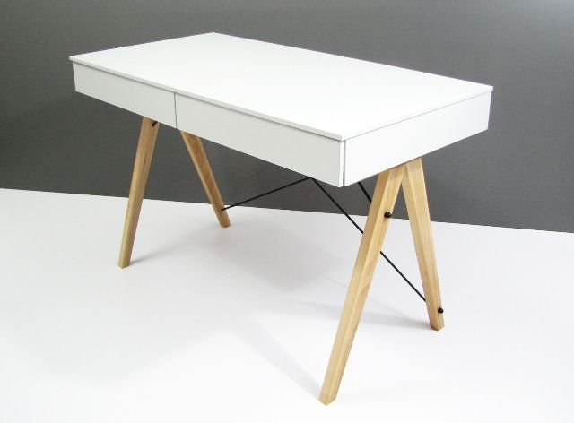 Biurko BASIC MINKO www.euforma.pl #desk #design #home #office #homeoffice #white #kids #room