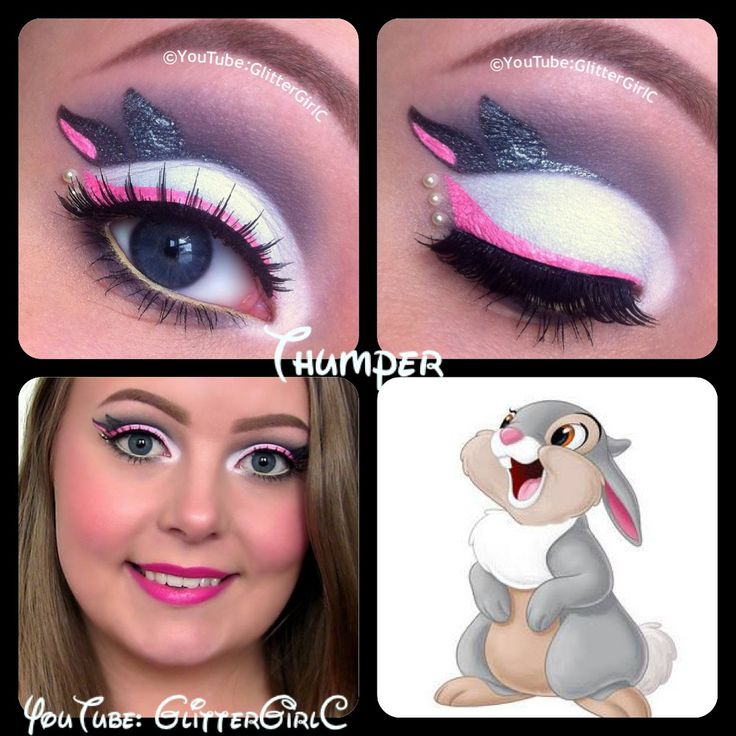 ❤️Disney Thumper makeup. I think I would do the ear as the eyeliner wing instead.