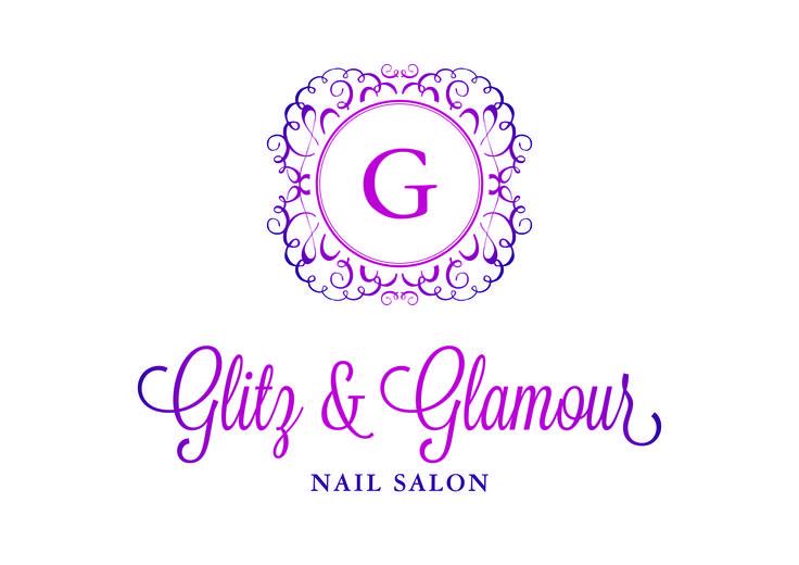 Logo Design for Nail Salon Glitz and Glamour. Created by Imagine If Creative Studio's Alysha Johnson.