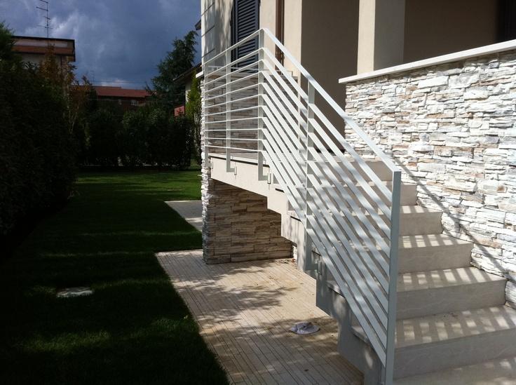 7 best images about balconi scale recinzioni in pvc on - Scala esterna in ferro ...