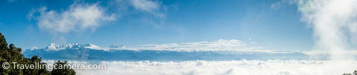 Snow covered mountains around Binsar, Uttrakhand (India) - Kedarnath, Chaukhamba, Trishul, Nanda Devi, Nanda Kot and Panchchuli.