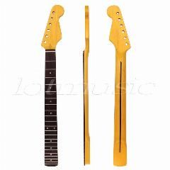 [ 20% OFF ] Electric Guitar Matt Abalone Dot Neck Maple 22 Fret Rosewood Freeboard Fingerboard For Electric Guitar Neck Parts Replacement