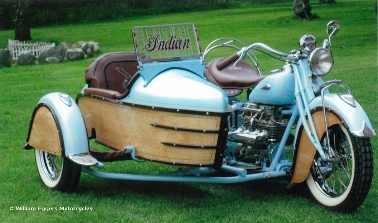 1941 Indian 4 Cycle With Sidecar by Bill Eggers.