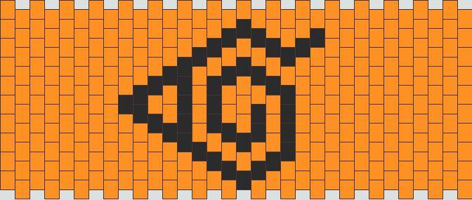 Naruto Konoha Cuff Kandi Pattern Kandi Patterns Pattern Kandi