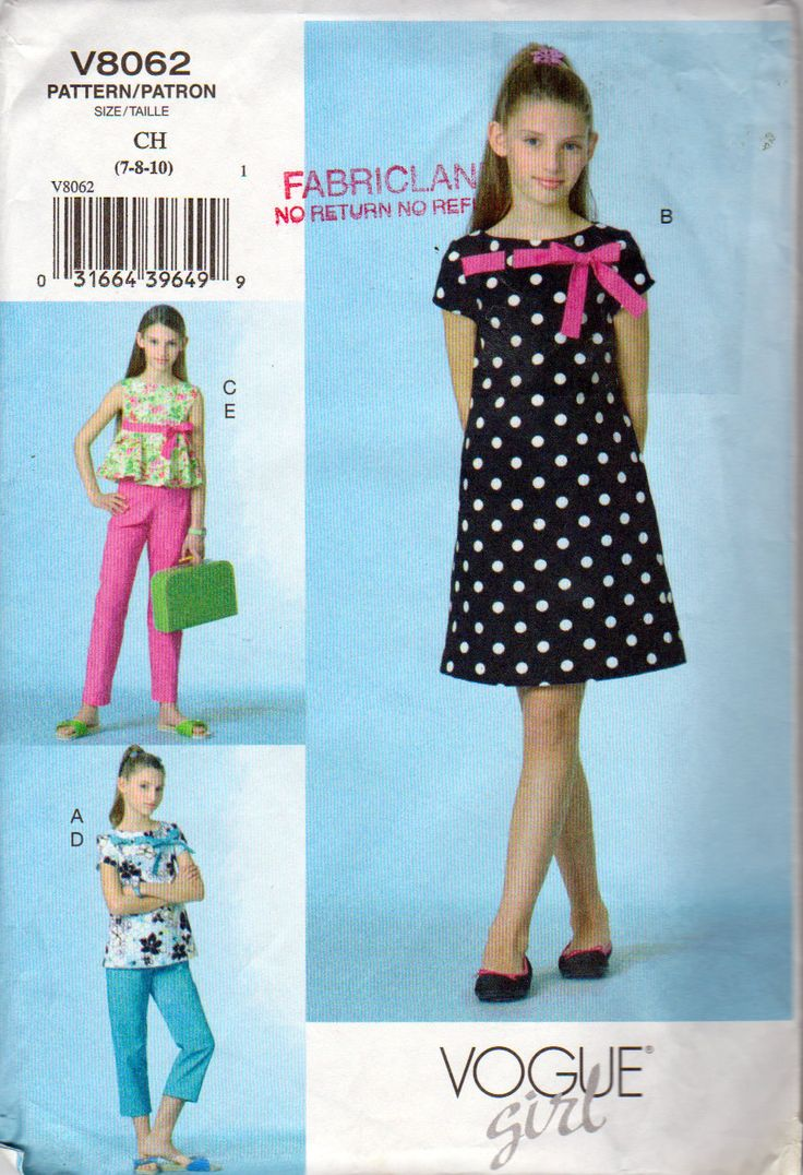 60 best Vogue kids patterns images on Pinterest | Vintage ...