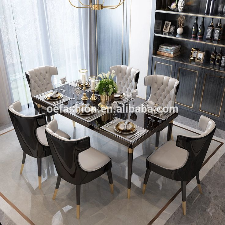 6 Seater Dining Table, Dining Room Set For 6