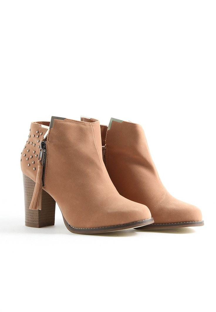 Adelie Suede Stud Ankle Boots In Nude- NEED these Winter boots in my life... #MGWinterWardrobe