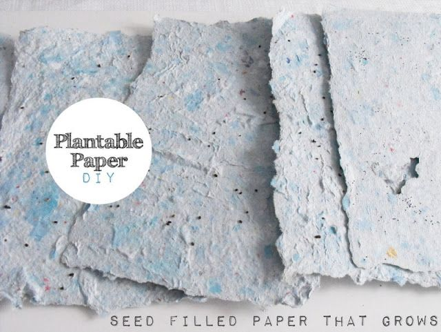 This is way cool and very sustainable! A how-to for recycling paper by essentially remaking it, spritzing it with seeds and can then be planted into your garden. These would make such great cards or gifts! Very easy to personalize!