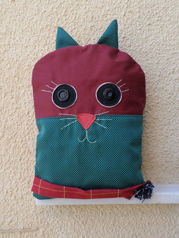 The cat backpack Handmade cat bag by MariasHappyThoughts on Etsy