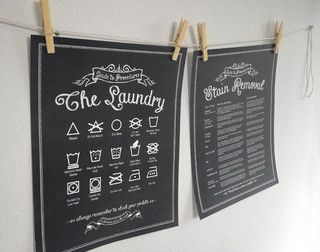 Laundry Procedures Print Set - Customize Color and Size - traditional - laundry products - portland - by Lettered & Lined. Want!!
