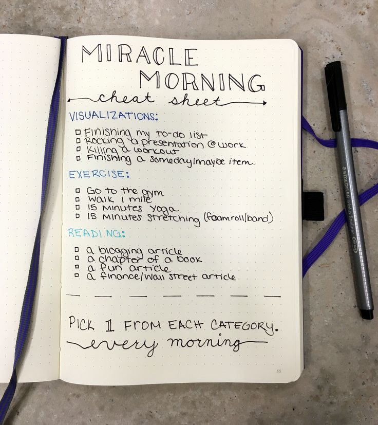 Besides my bullet journal the only other thing I follow faithfully is the miracle morning. Ever since I started incorporating my SAVERS routine into my mornings I've been more productive, positive and energized. If you want to learn more about my SAVERS routine in my bujocheck out my earlier post! Some mornings I find myself drawing a blank on what to incorporate in certain steps