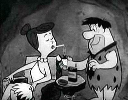 Fred Flintstone Winston Cigarette Ad - iv-cigarettes