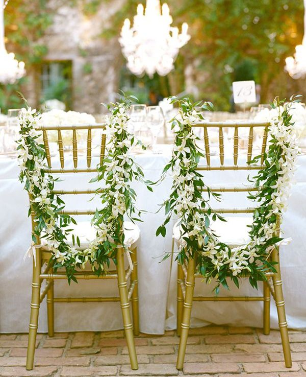 33 best wedding chair decor ideas images on pinterest wedding 8 awesome and easy ways to decorate wedding chairs junglespirit Gallery