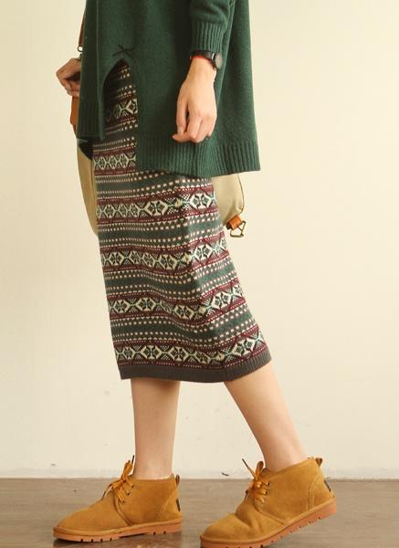 New style boximiyari forest series girl AOI Yu Sen national wind Pack hip bust long skirt skirt