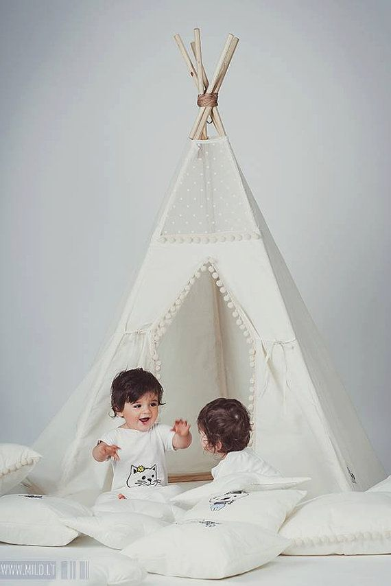 kids teepee tipi with poles 5 pole kids children indoor outdoor playtent play tent tipi. Black Bedroom Furniture Sets. Home Design Ideas