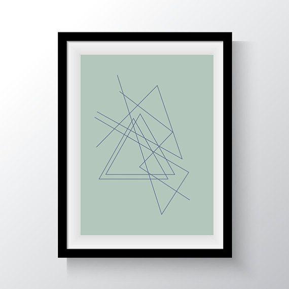 Abstract Triangles Lines Digital Print Wall Art by DropOfSunPrints