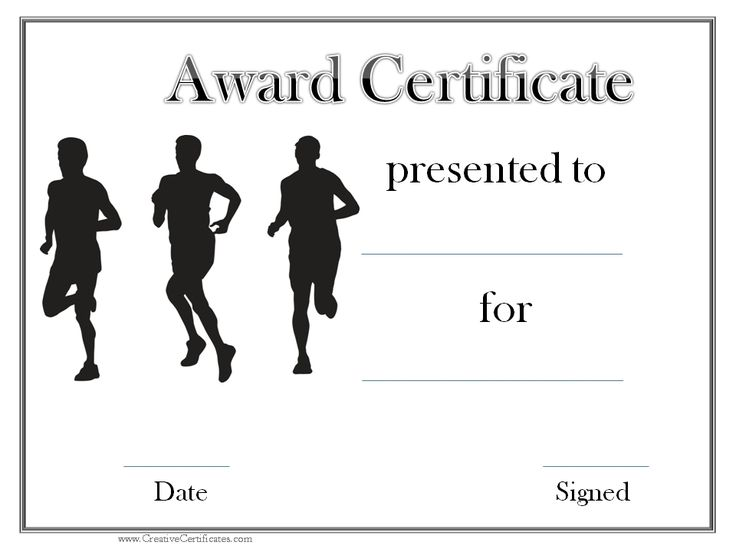 "We received a request from a Track and Field coach who asked us to make some ""Track and Field"" award certificate templates. Description from creativecertificates.com. I searched for this on bing.com/images"