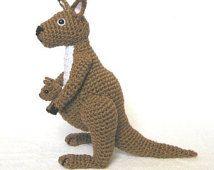 Crochet KANGAROO and BABY pattern amigurumi Pinterest ...