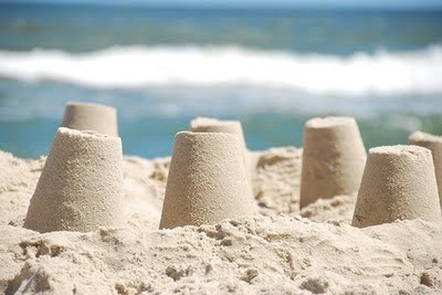 sandcastles-- I could sit at the beach all day making sand buckets....ms