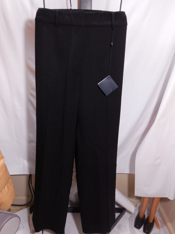 WOMANS BLACK ITALIAN WOOL CATHERINE FIT PANTS BROOKS BROTHERS PLUS 14W $248 #BrooksBrothers #DressPants