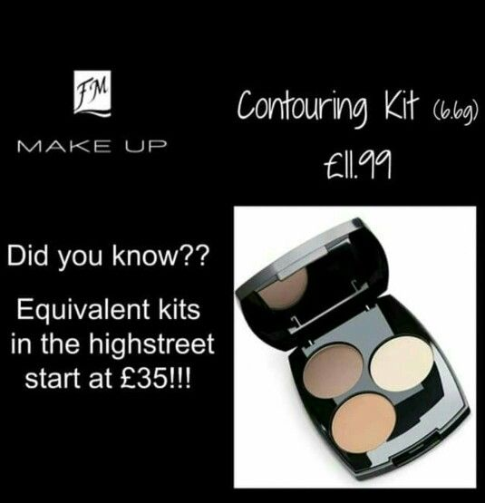 Well fm cosmetics just has everything! Contouring kit for amazing prices! All fm cosmetics makeup is 100% mineral makeup
