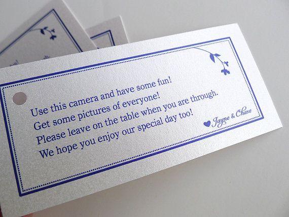 Disposable Camera Tags