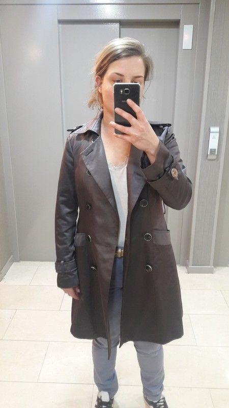 6dedfc6fdba1b Trench gris satiné ZARA | Vinted à vendre | Mode Femme, Femme et Mode