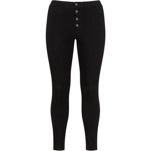 LOST INK Black Plus Size Black jeggings ($43) ❤ liked on Polyvore featuring pants, leggings, black, plus size, plus size trousers, skinny pants, denim leggings, jean leggings and women's plus size jeggings