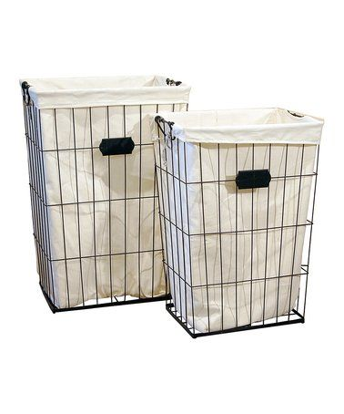 Look at this #zulilyfind! Metal Laundry Basket - Set of Two #zulilyfinds