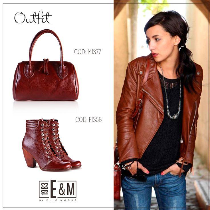 #outfit #cartera #botines #marron #cuero #zapatos #ByElioMoore