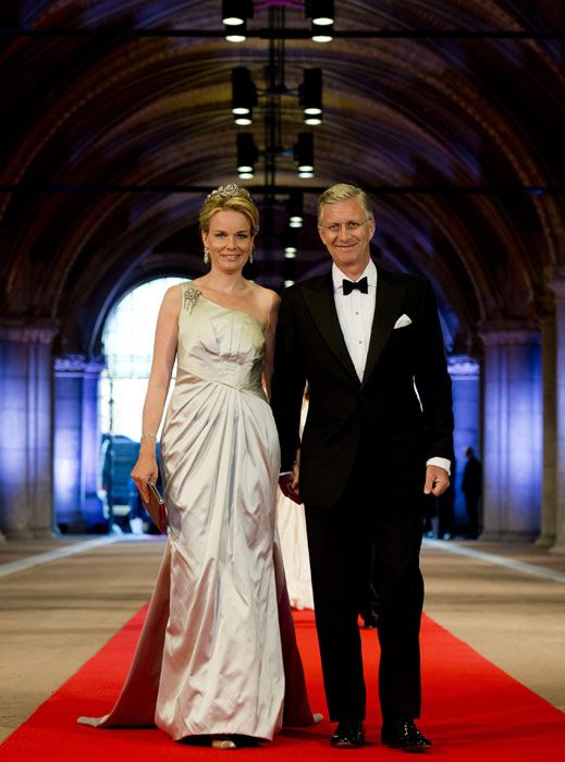 Prince Philippe and Princess Mathilde at the dinner before King Willem-Alexander's investiture