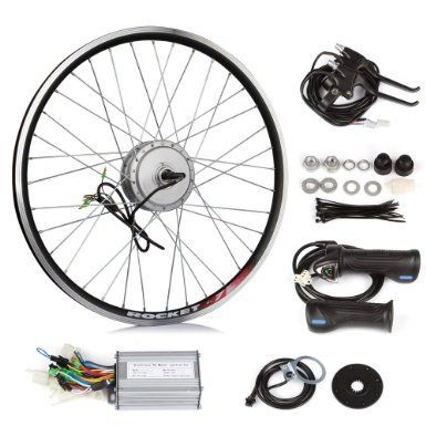 Electric Bike  $220.00 - $280.00  SainSpeed DIY Electric Bike Bicycle Motor Conversion Kit with Hub Motor with wheel, Controller, Speed Throttle, Brake Lever, Hand Grip, Pedal Assistant System, Power Indicator, Power Cable