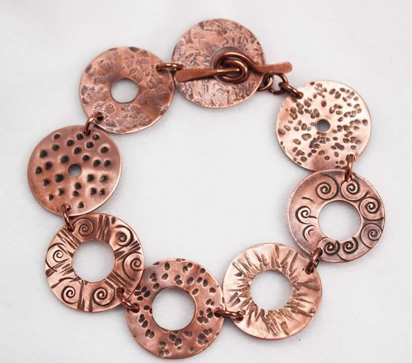 How to Make, Stamp and Patina a Copper Washer Bracelet Tutorial ~ The Beading Gem's Journal