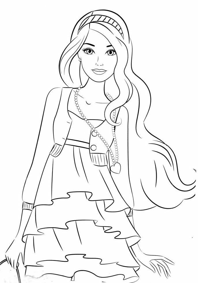 Pin By Renata On Barbie Coloring Darmowe Kolorowanki