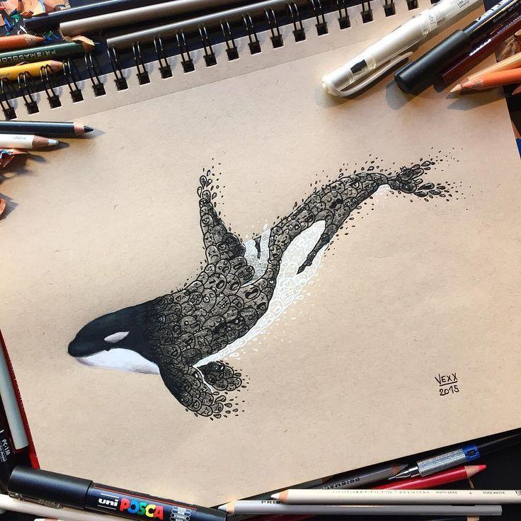 Yaptığı resimleri doodles denilen karalama yüz ifadeleri ile tamamlayan Vince Okerman sevimli bir işe imza atmış. Genellikle hayvan resimleri üzerine yaptığı birbirinden komik yüz ifadeleri ile hayvanların çeşitli uzuvlarını tamamlayan sanatçının derlediğimiz çalışmaları arasında: Penguen, aslan, panda gibi hayvanlar var. Hayvanlar alemi dışında iskelet, ying yang ve çeşitli mesajlar içeren logolar tasarlayan sanatçının sizi gülümsetecek sevimli çalışmalarından derlediklerimiz aşağıda…