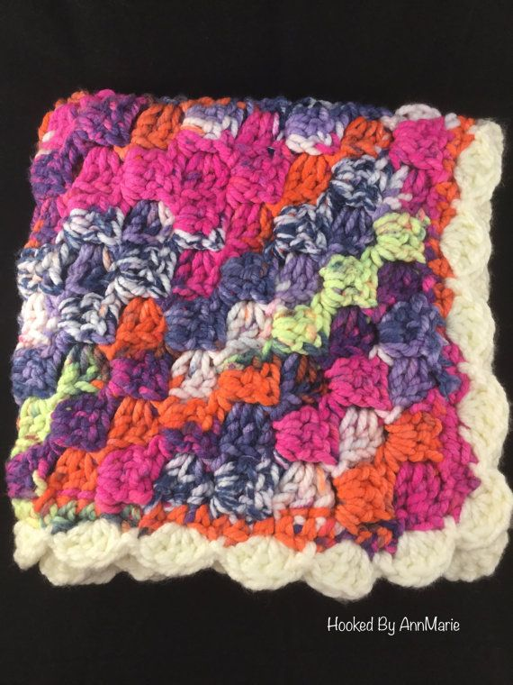 Crochet baby blanket baby girl blanket. Pattern Corner to Corner baby blanket by Kindras Crochet.