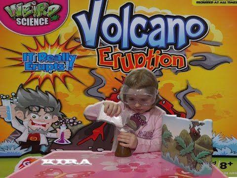 Кира распакует вулкан експеримент experiment volcano eruption