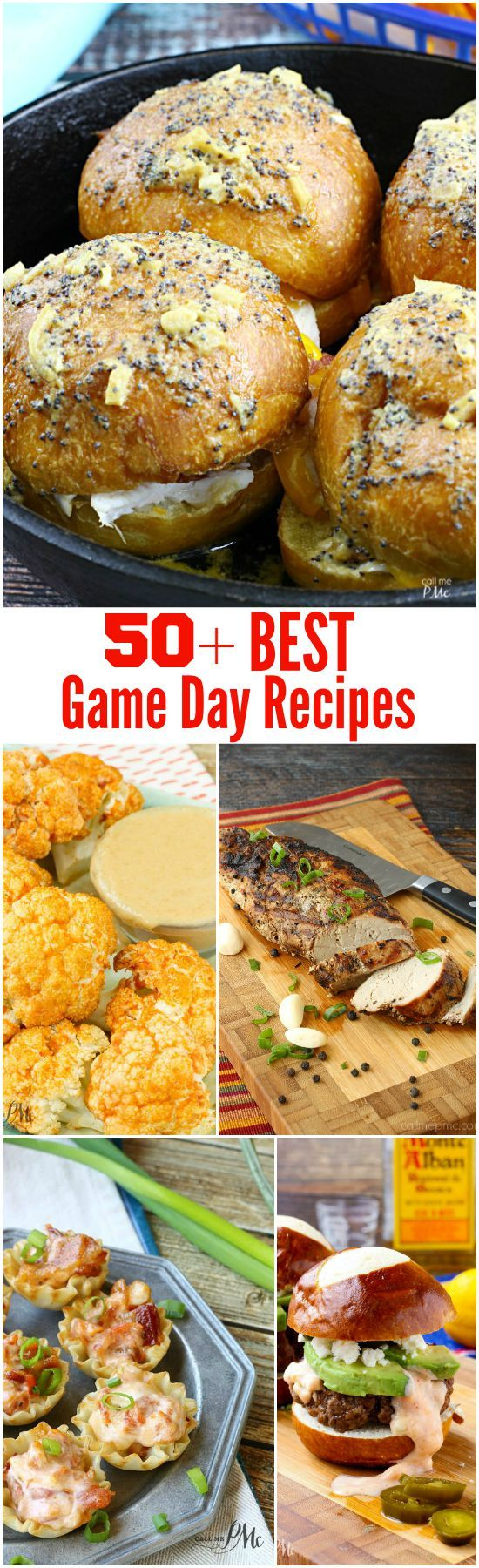50+ Best Game Day Food Recipes. Easy football party ideas. Make everything from appetizers, sliders, or pizza for a crowd!