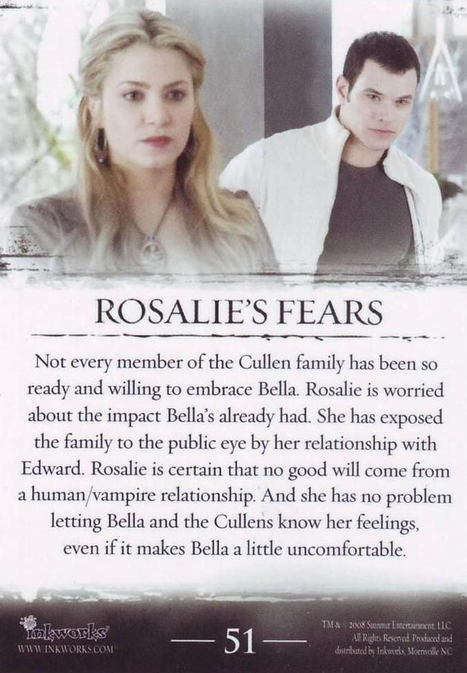 rosalie and bella relationship test