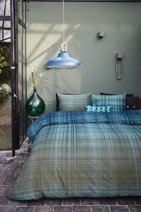bol.com   Beddinghouse Surrey - Dekbedovertrek - eenpersoons - 140x200/220 - Aqua...