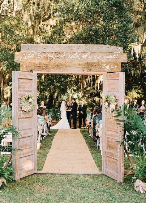Lovely outdoor wedding ceremony; Featured Photographer: Amy Arrington Photography