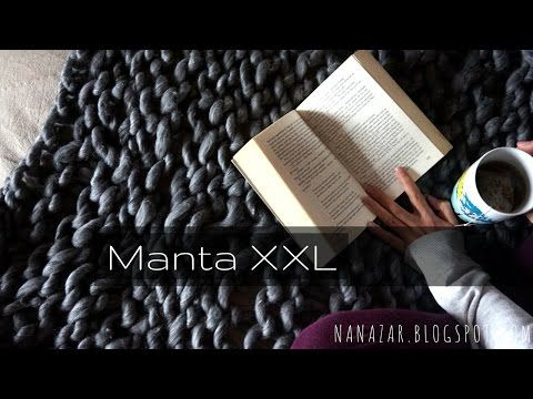 Cómo hacer una manta XXL con las manos en 2 horas (manta de punto grueso) | Manualidades