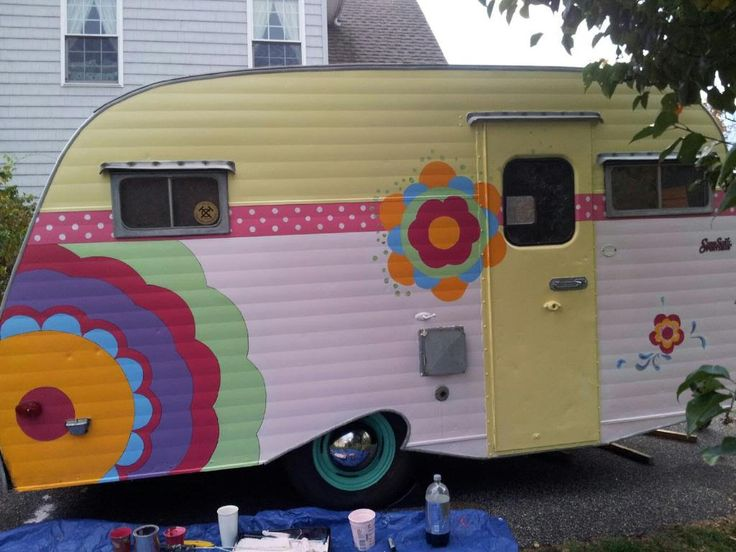 This adorable vintage camper has been featured in a series of stories on Yahoo Travel. It's a restored 1968 Scotty, 16 feet long including tongue. I tow it easily with my small, four-cylinder…