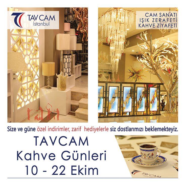 Tavcam'da Kahve Günleri ! 10-22 Ekim tarihlerinde mağazamızı ziyaret edin bir çok fırsatı bir arada yakalayın! Adres: Esentepe Mahallesi Avizeciler Sitesi 2970 Sokak No:2-4 Sultangazi
